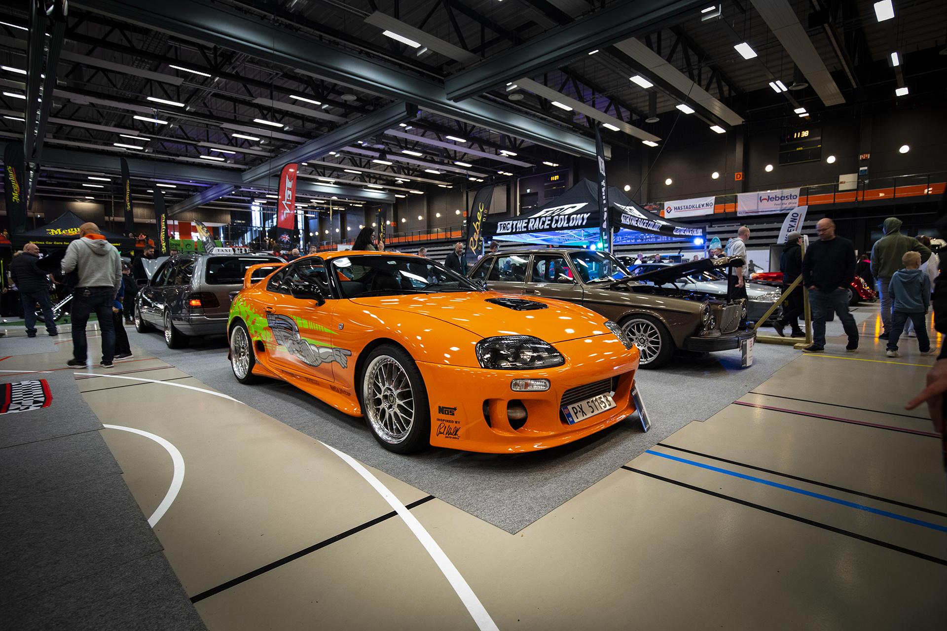 Ingen tvil om hvor Marius Rye Megård har hentet inspirasjon fra på hans Toyota Supra-bygg.