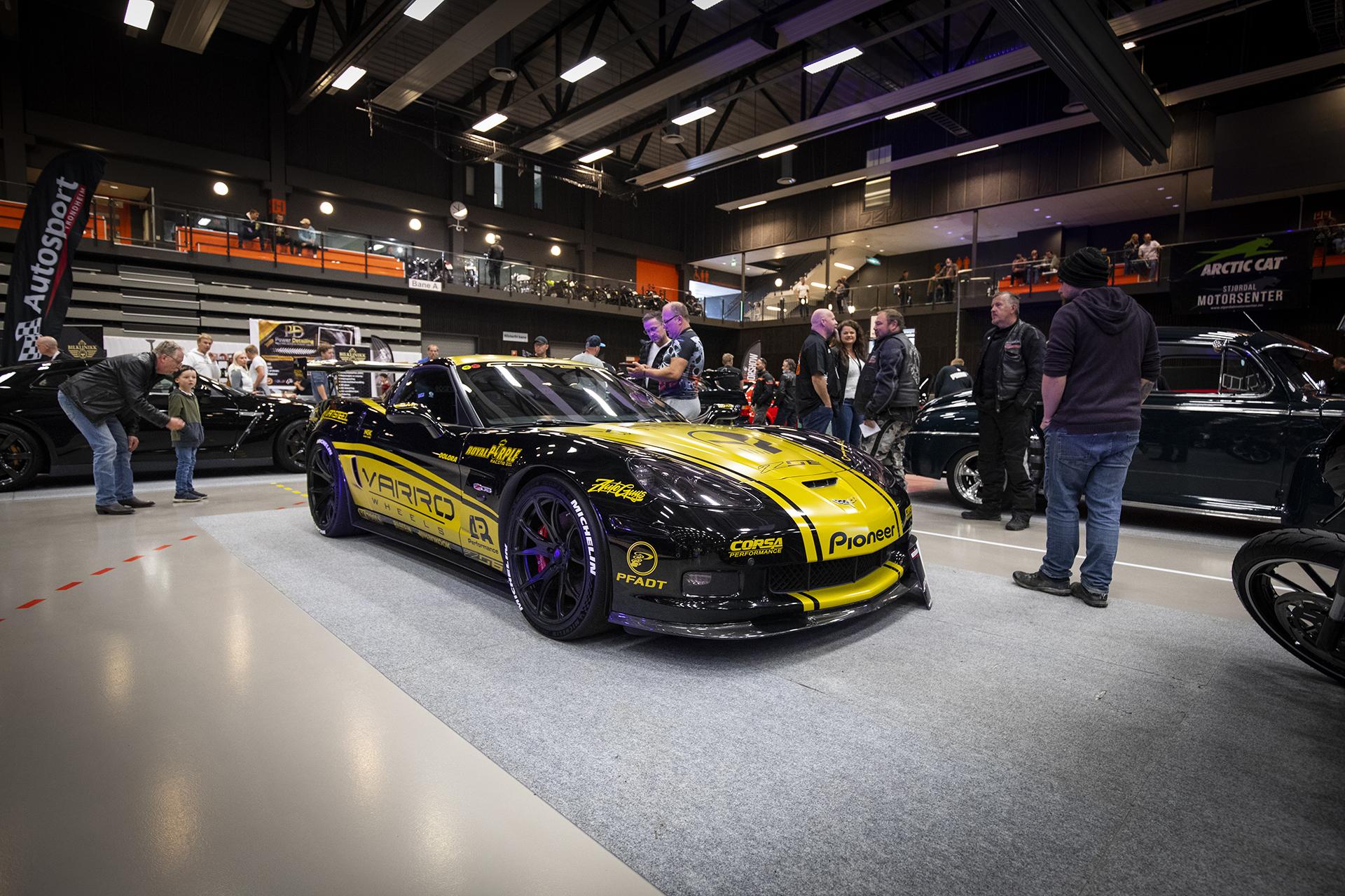 Race-rigget Corvette Z06 som eies av Knut Grinde. Utrolig fett stuk!