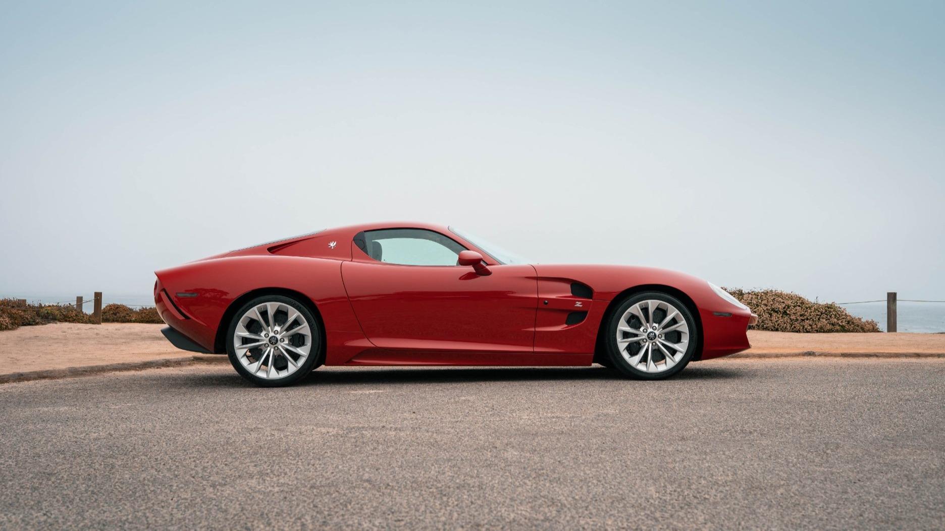 Zagato Corvettes sideprofil. Lite som minner om Corvette her