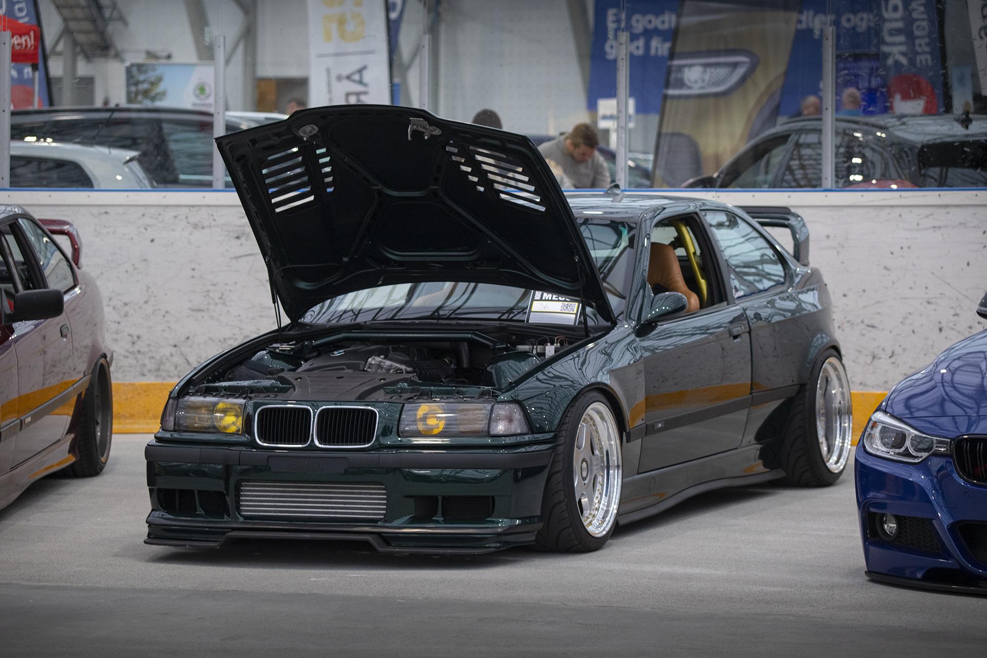 Halfdan Vatn tok hjem andreplass på messen for sin BMW E36 Compact.