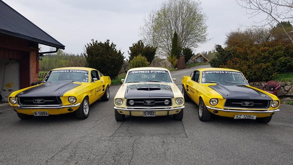 Bilen sammen med gamle filmkolleger.