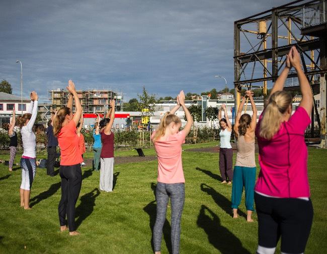 Terra Yoga i Maskinparken