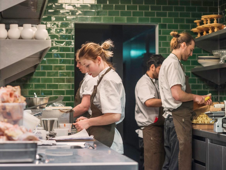 Kjøkkenet i Credo Restaurant