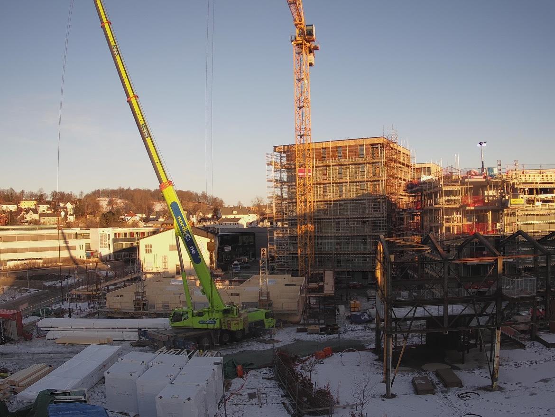 Slik så byggeplassen ut fredag 2. februar.