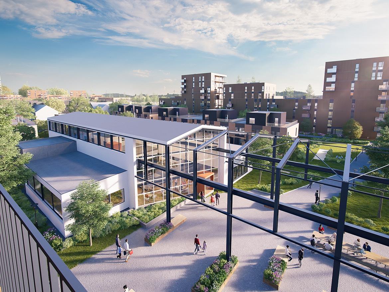 Utsikt til Maskinparken fra leilighet D4.4