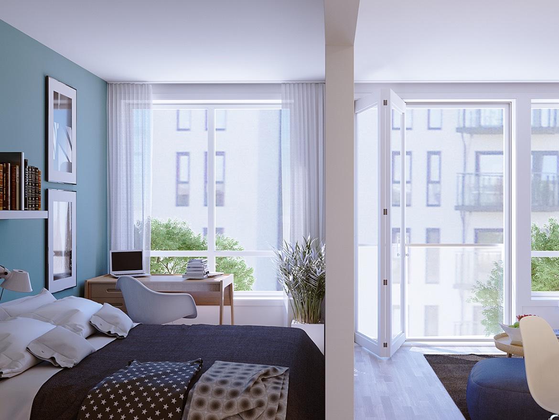 Illustrasjonsbilde av leilighet 2.4 i 2. etasje.