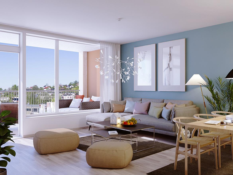 Illustrasjonsbilde av leilighet 8.2 i 8. etasje.