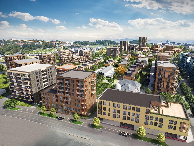Illustrasjonsbilde: Slik vil Lilleby se ut når bydelen er ferdig.