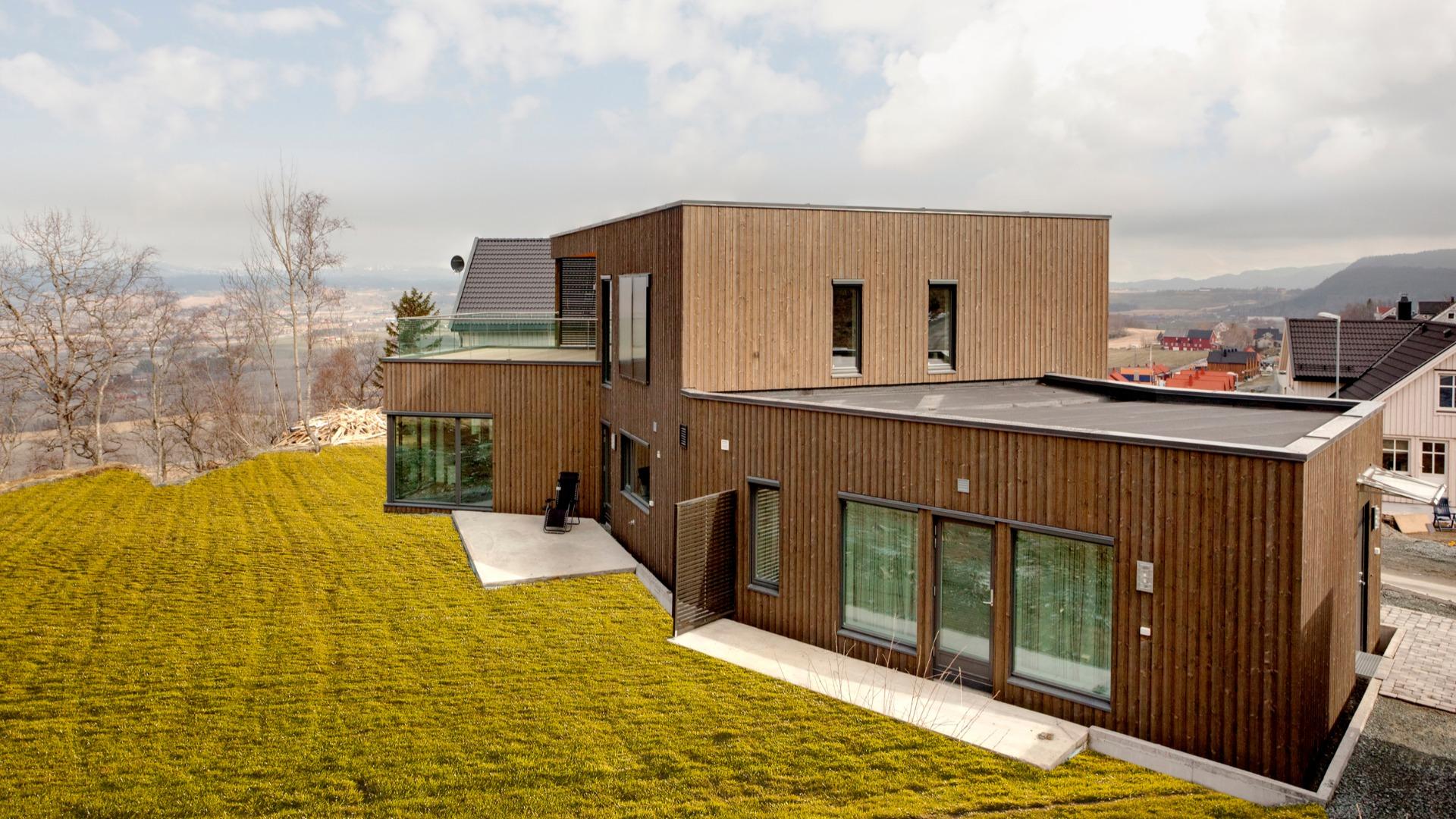 Passivhus tegnet av arkitekt May Siri Bones