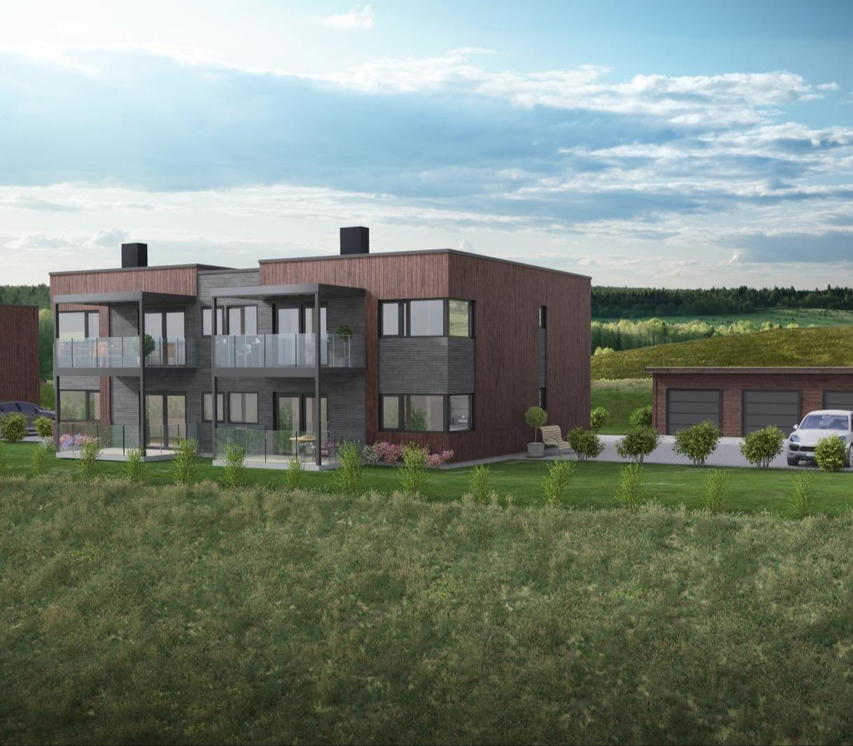 Prosjekterte leiligheter med en flott beliggenhet på Nerskogen i Rennebu