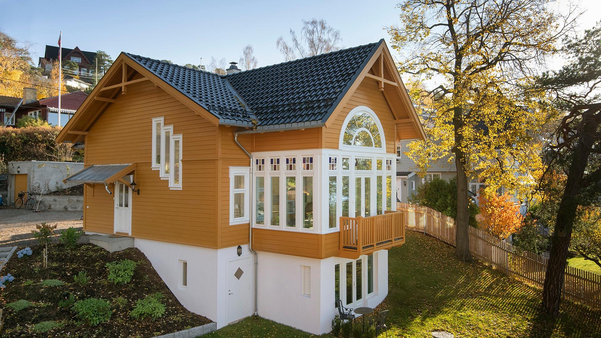 Nybygd bolig i sveitserstil