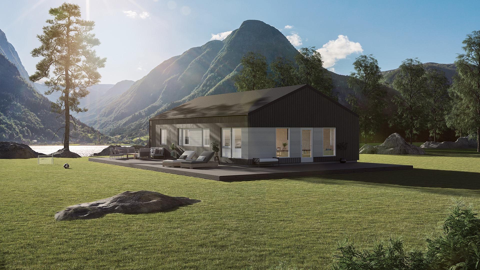 Lund Moderne - boenhet med to soverom og utleieenhet