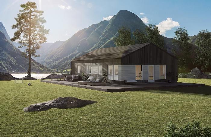 Lund Moderne er  en lettstelt bolig med muligheter for et fint utemiljø.