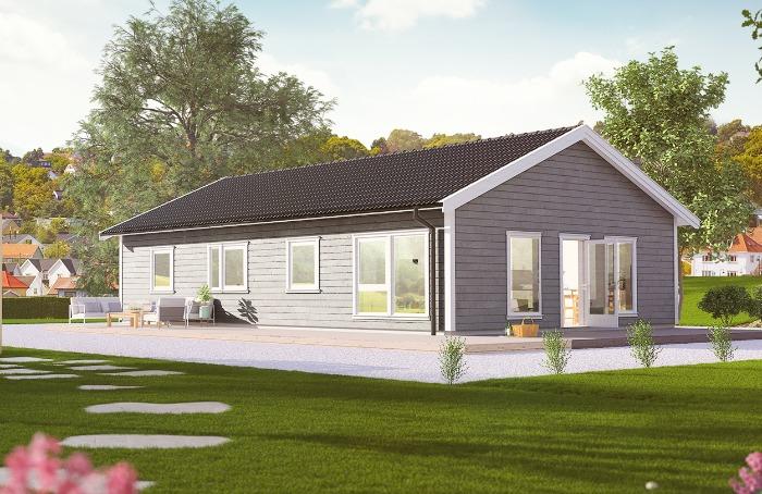 Lund Tradisjon er en lettstelt bolig med muligheter for et fint utemiljø