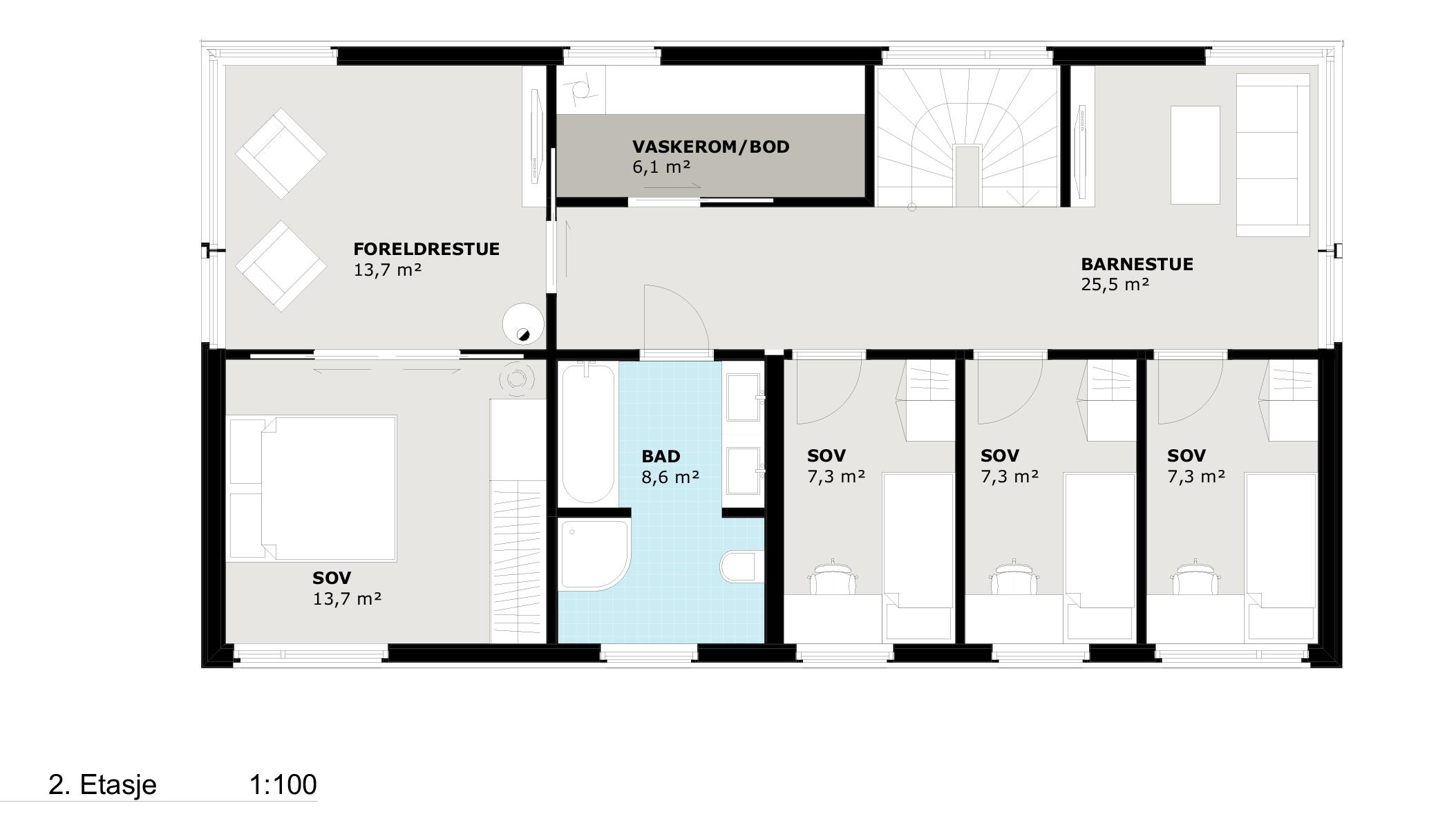 Planløsning 2.etasje Bris