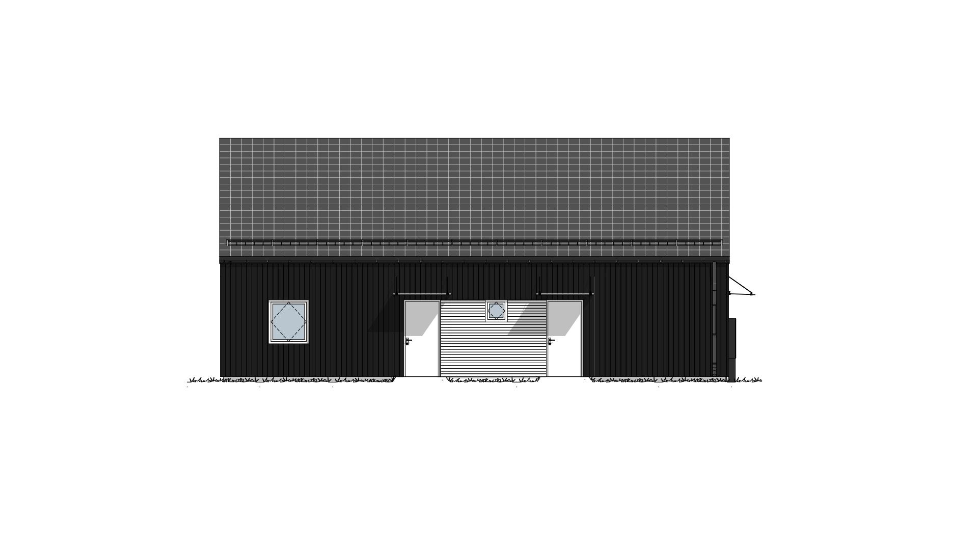 Fasade 2 Lundås Moderne