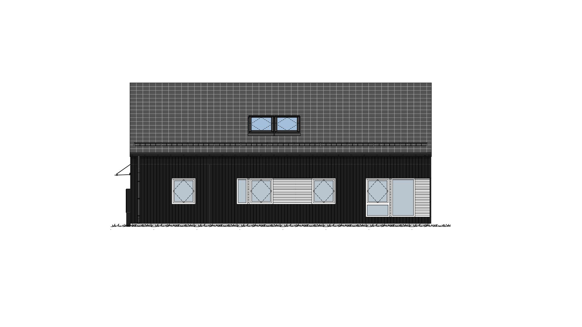 Fasade 3 Lundås Moderne