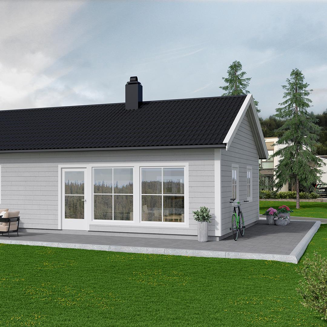 Et praktisk og lettstelt hus
