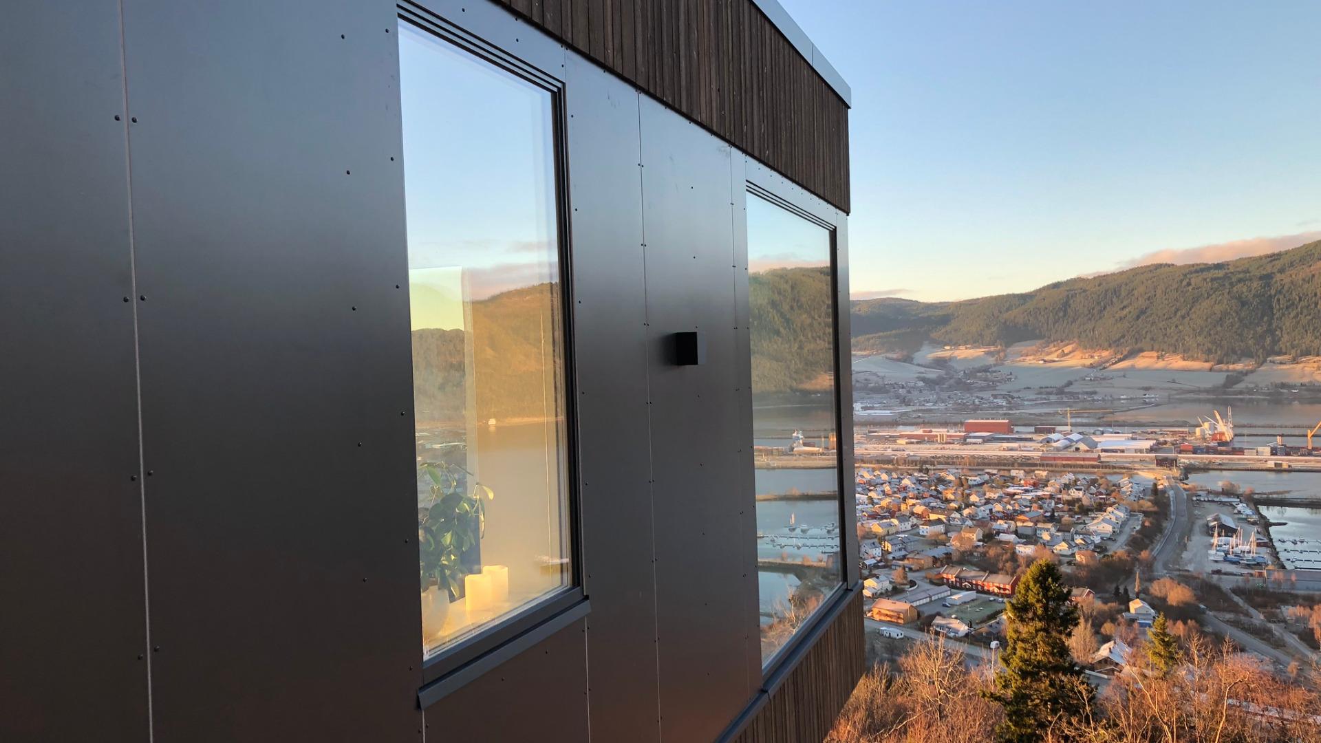 Rå utsikt fra Moment på Orkanger