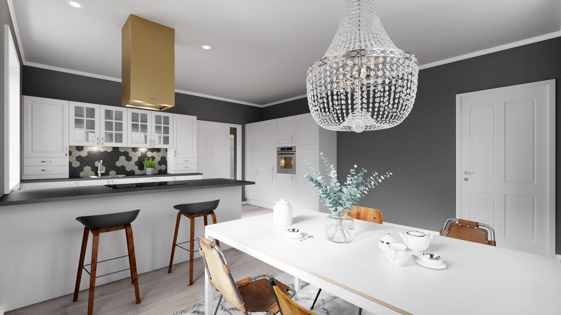 Et stort kjøkken hører hjem i et herskapelig hus