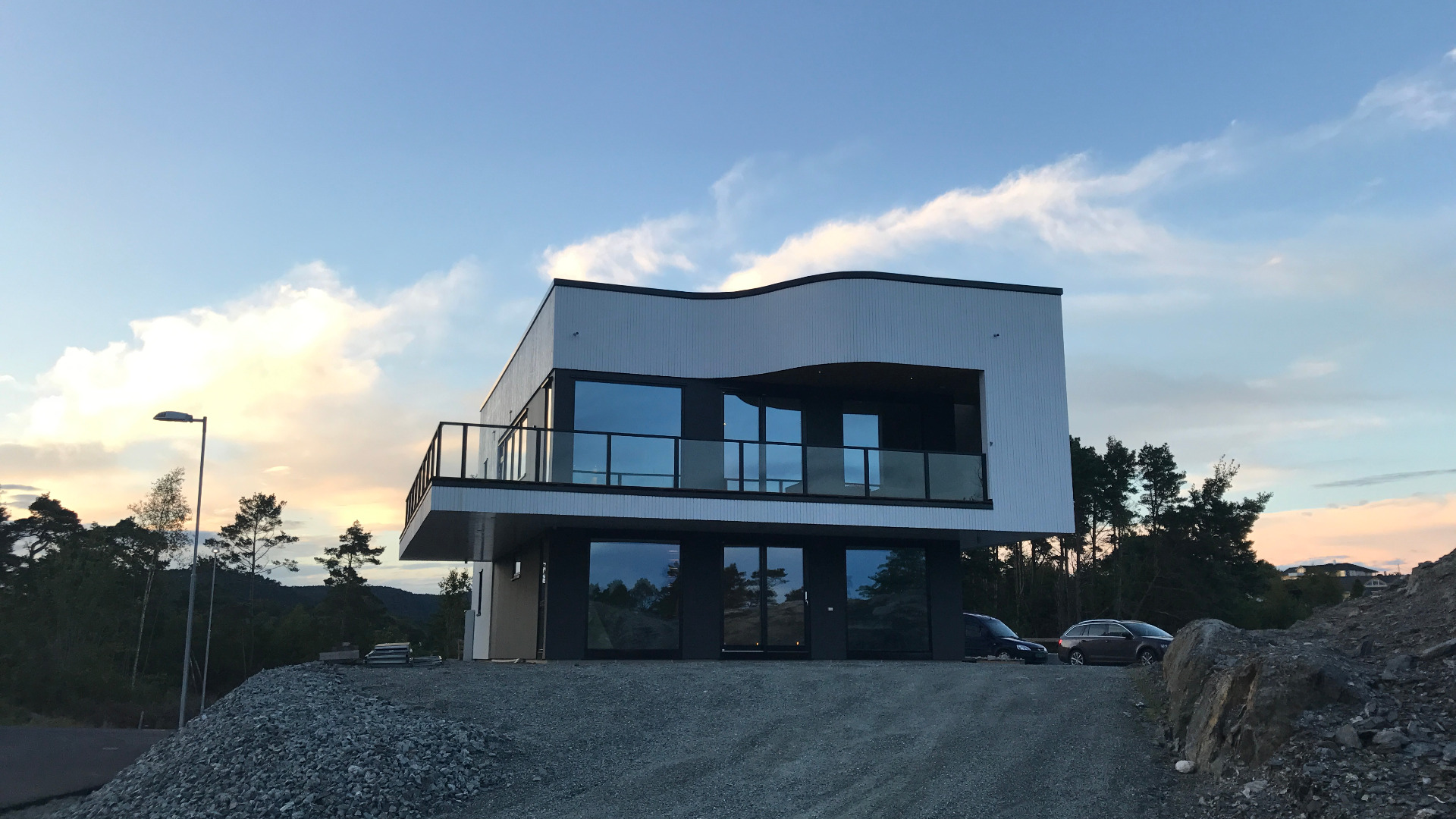 Panorama på Os i Hordaland