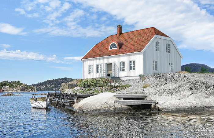 Et idyllisk sørlandshus