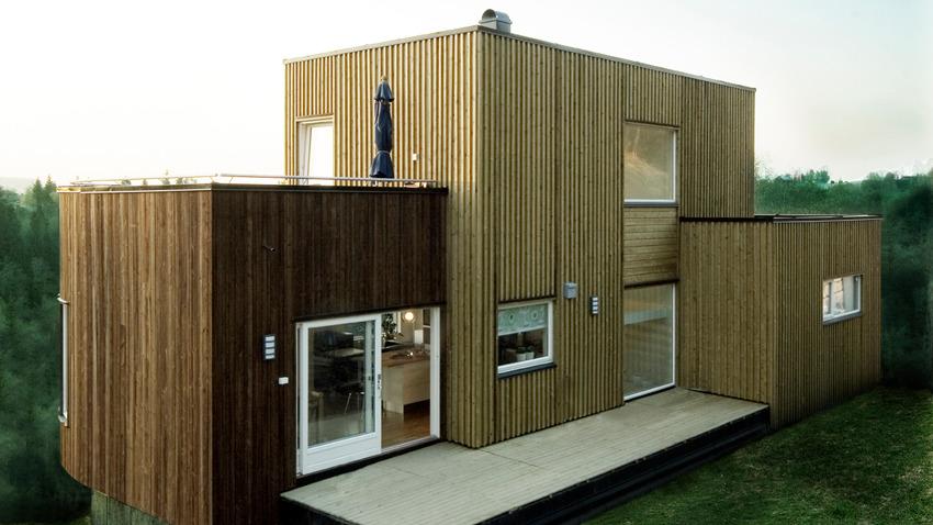 Hus tegnet med inspirasjon fra Syklus