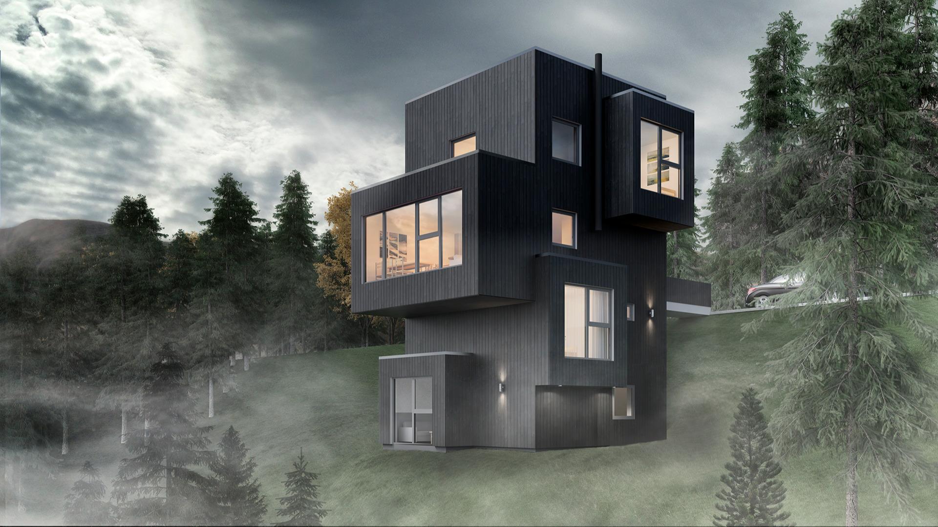 Felles for etasjene er de store vindusflatene, som vil gi deg romopplevelser helt utenom det vanlige.