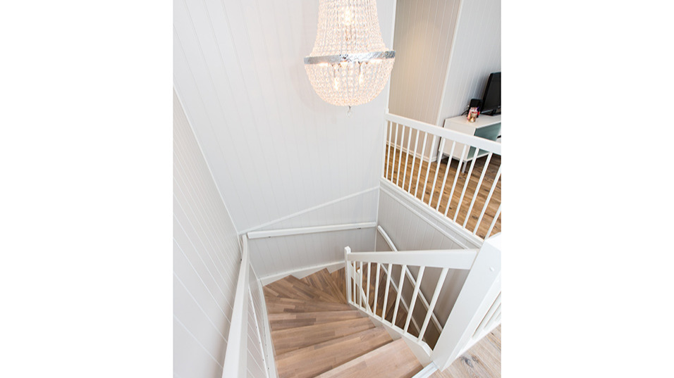 Trapp mellom de to etasjene
