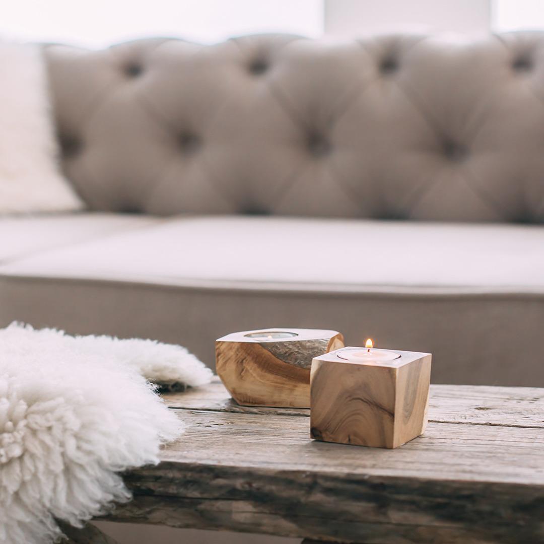 Ei koselig stue er ei god ramme for å slappe av og nyte hyttekosen