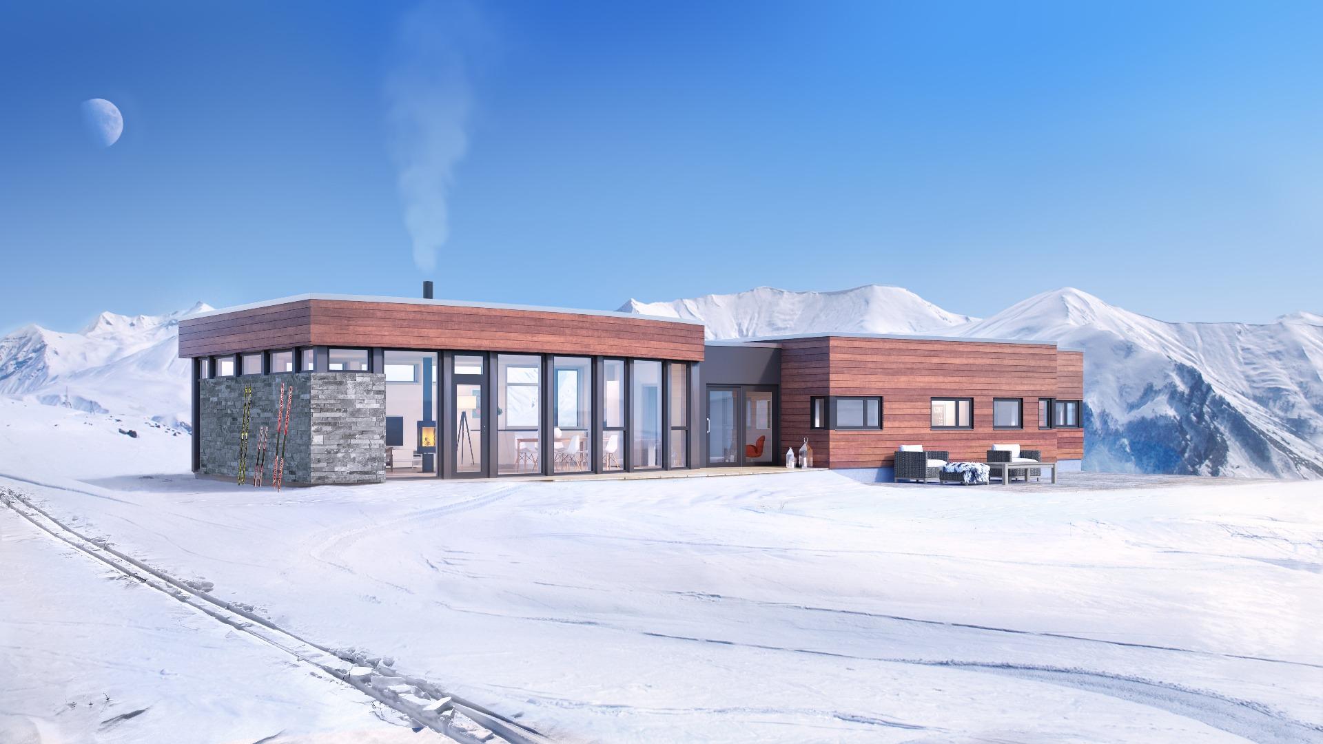Med buet fasade får du panoramautsikt fra stua