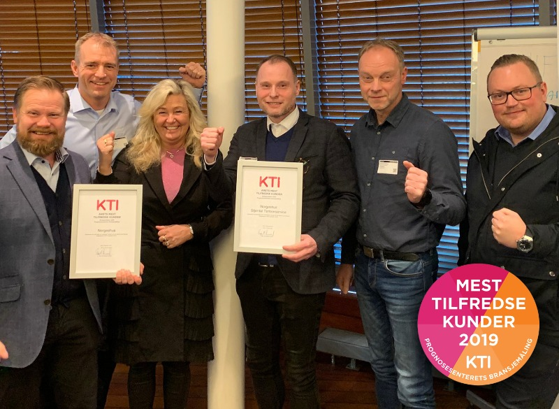 Mest tilfredse kunder 2019 - KTI