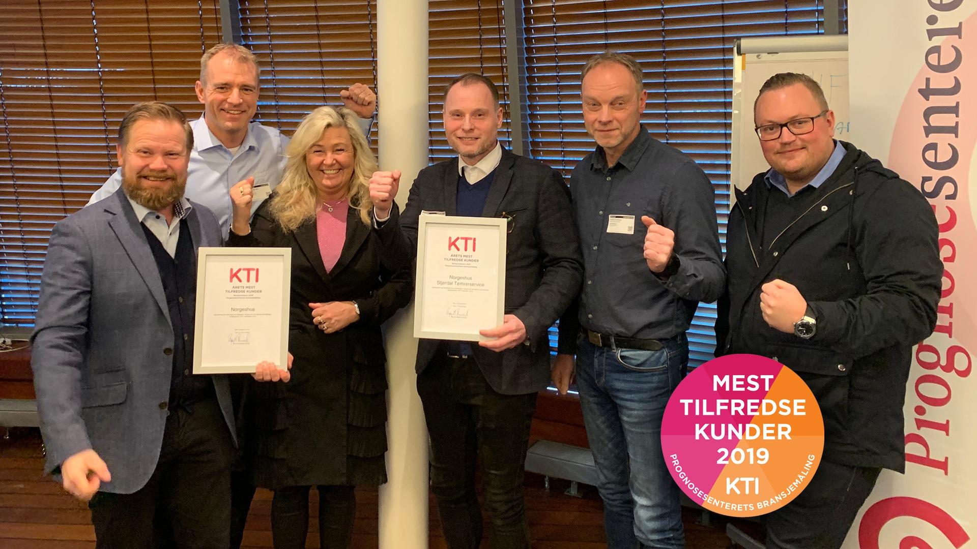 Norgeshus hentet hjem 4 priser fra Prognosesenteret for å ha de mest fornøyde kundene i 2019