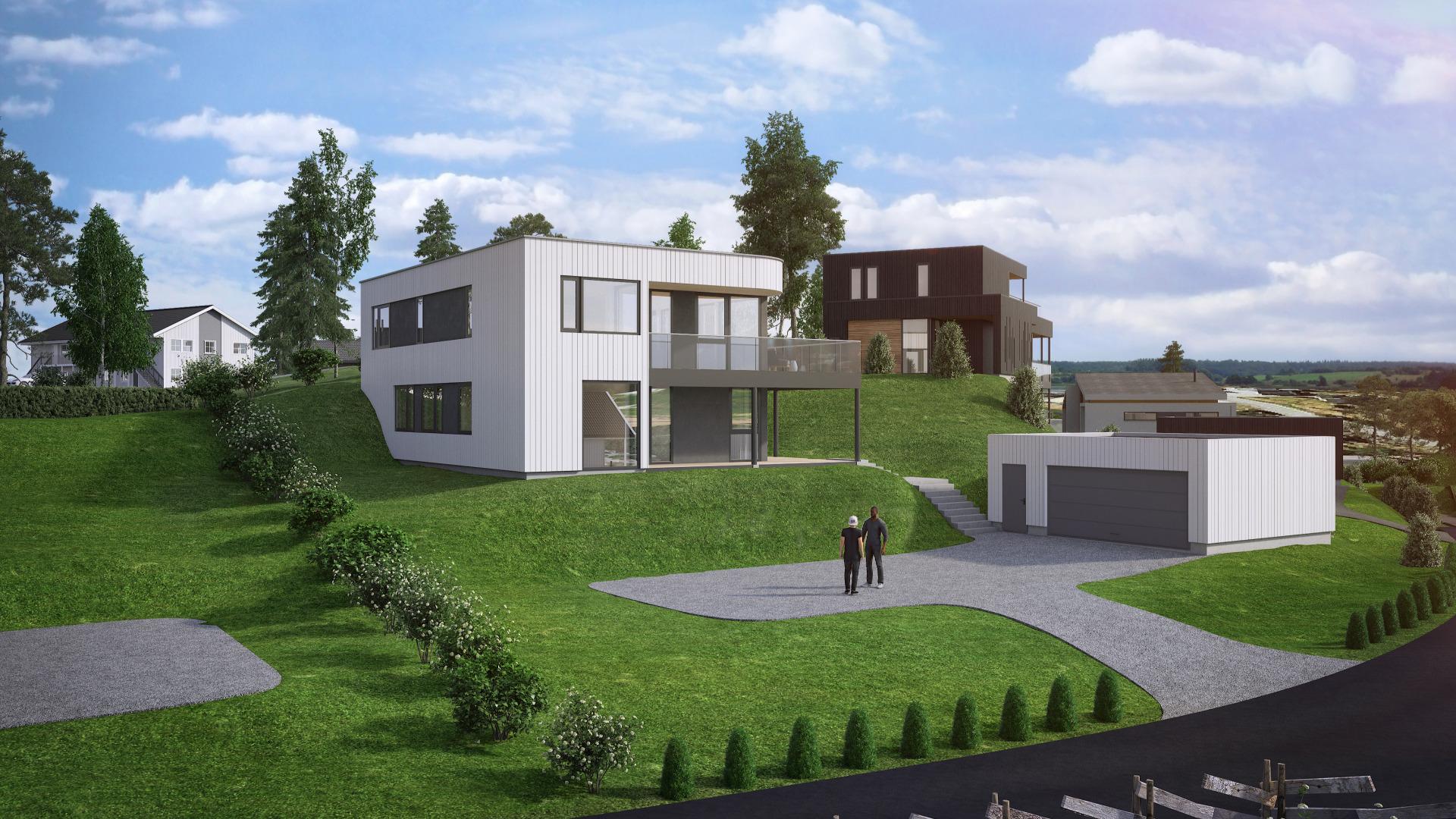 Forslag til bolig på tomt 41 på Trollåsen
