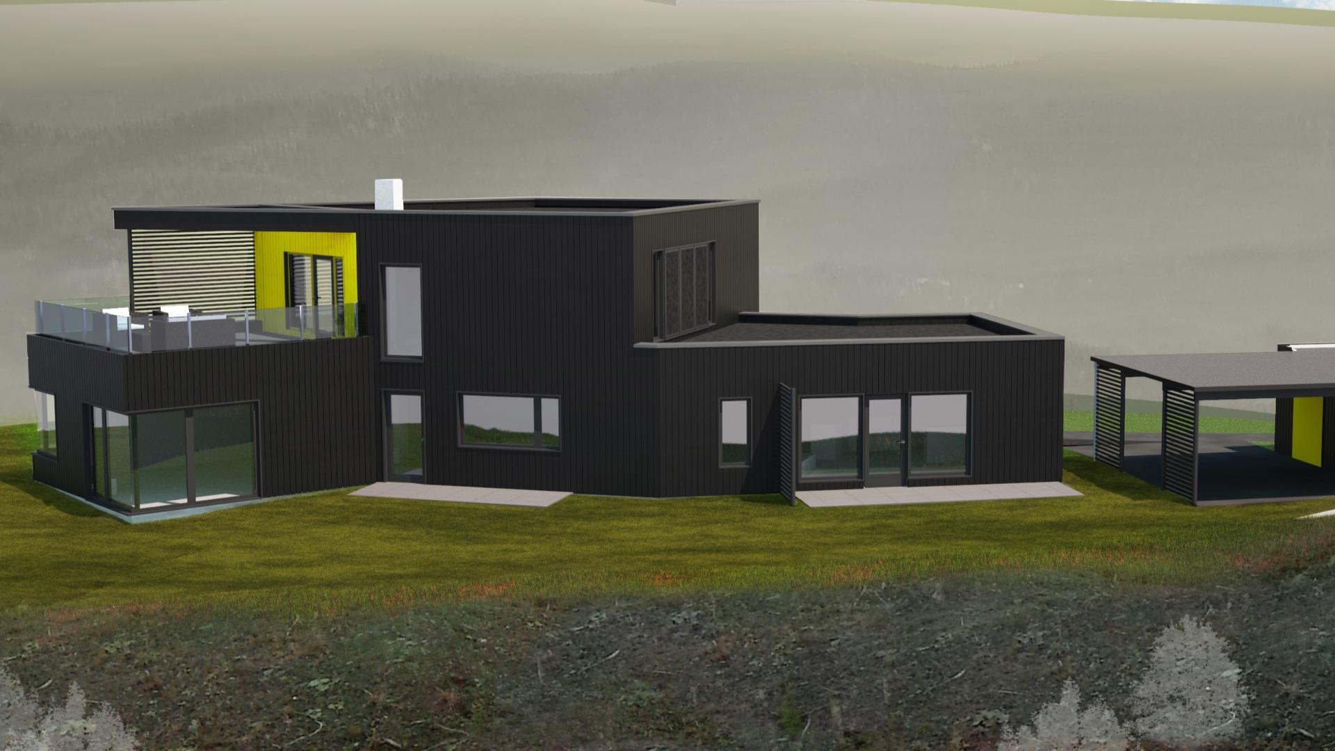 Illustrasjon Passivhuset Løvset