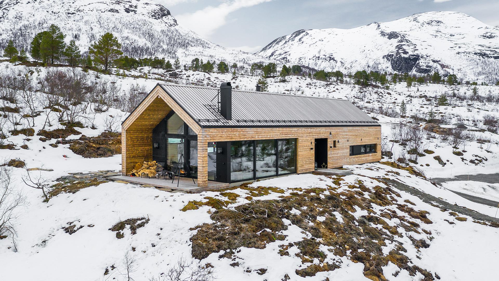 Moderne hytte i Tudalen
