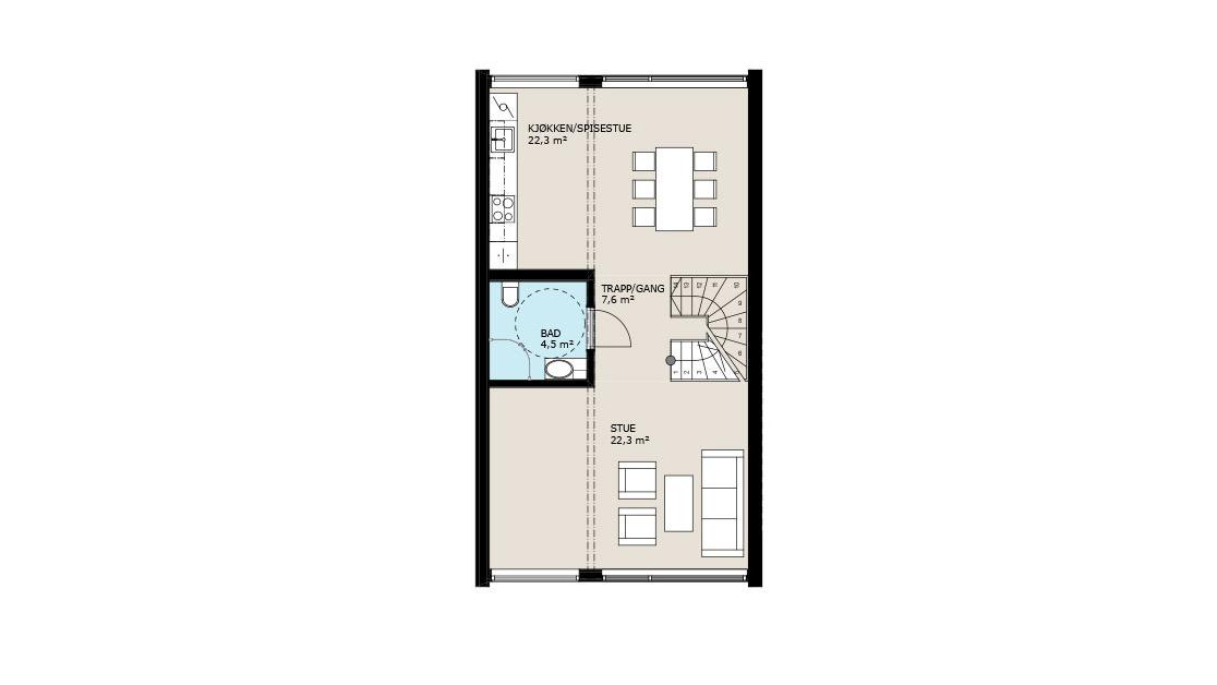 Planløsning 2. etasje
