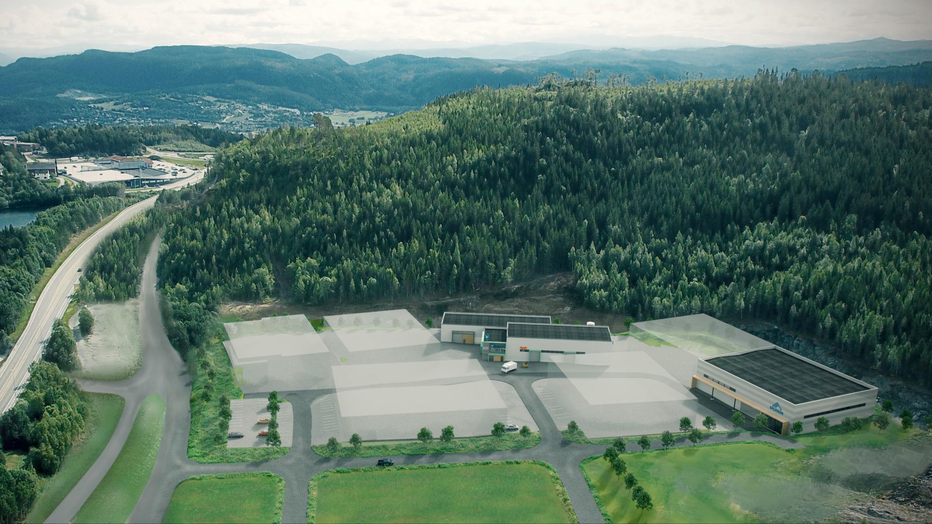 Vikaune Industrier, Sveberg handels- og næringspark.